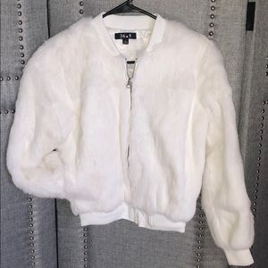 Rabbit fur bomber
